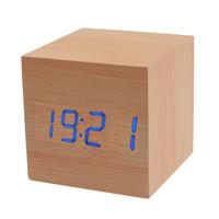 """Часы-будильник """"Деревянный Куб"""" с термометром"""