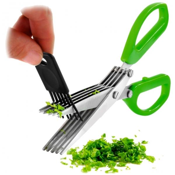 Ножницы для зелени + щеточка для лезвий